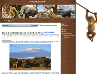 paradiseafricasafari.mex.tl screenshot