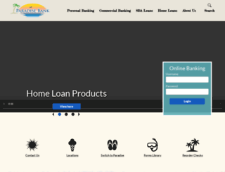 paradisebank.com screenshot
