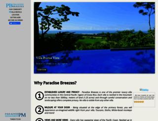 paradisebreezes.com screenshot