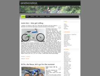 paradisecowboys.wordpress.com screenshot