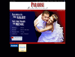 paradiseentertainment.com screenshot