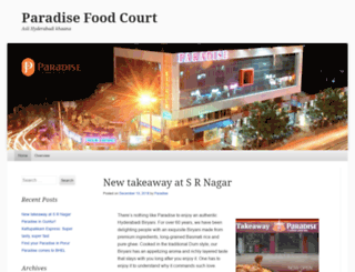 paradisefoodcourt.wordpress.com screenshot