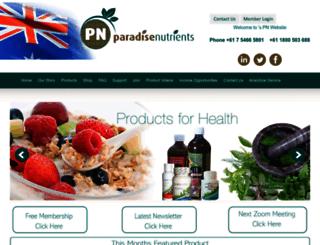 paradisenutrients.com.au screenshot