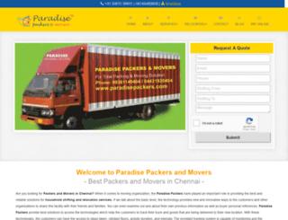 paradisepackers.com screenshot