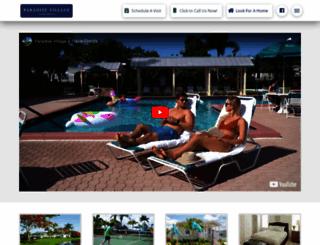 paradisevillagehomes.com screenshot