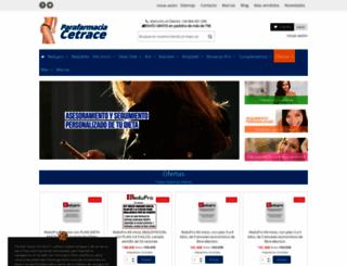 parafarmaciacetrace.com screenshot