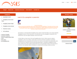 paraglide.co.uk screenshot