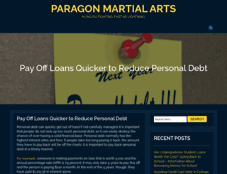 paragonmartialarts.co.uk screenshot