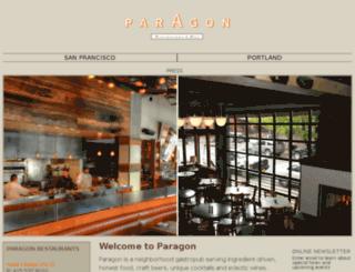 paragonrestaurant.com screenshot