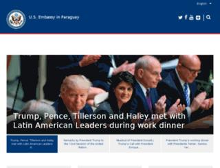 paraguay.usembassy.gov screenshot