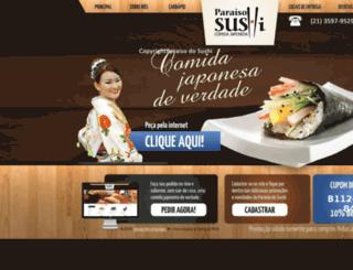 paraisodosushi.com.br screenshot
