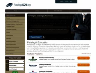 paralegaledu.org screenshot