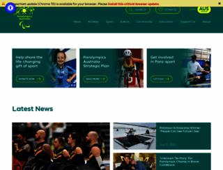 paralympic.org.au screenshot