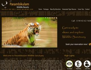 parambikulamresorts.com screenshot
