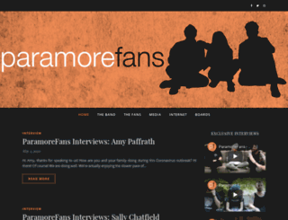 paramorefans.com screenshot