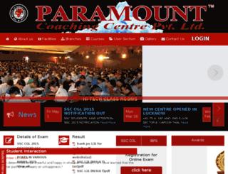 paramountcoachingcentre.com screenshot