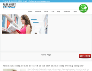 paramountessay.com screenshot