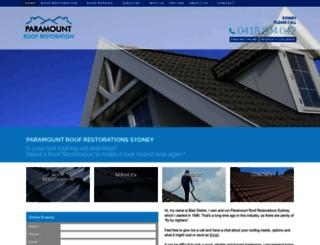paramountroofrestorations.com.au screenshot