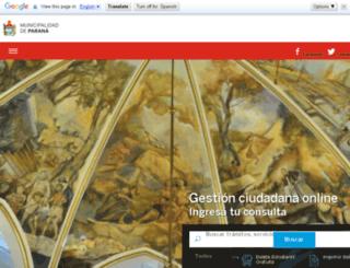 parana1.com.ar screenshot