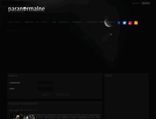 paranormalne.pl screenshot