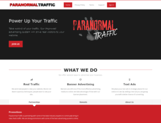 paranormaltraffic.com screenshot