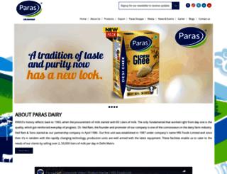parasdairy.com screenshot