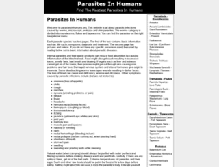 parasitesinhumans.org screenshot