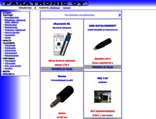 paratronic.fi screenshot