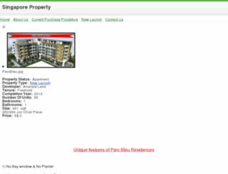 parcbleuresidences.sg screenshot