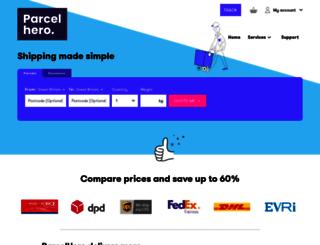 parcelhero.com screenshot