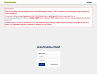 parcelmotel.com screenshot