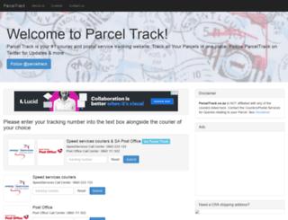parceltrack.co.za screenshot