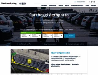 parcheggiaeroporto.com screenshot