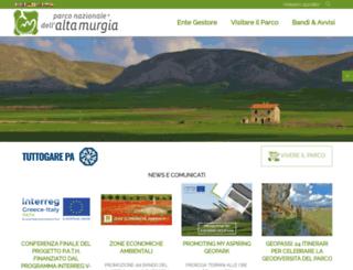 parcoaltamurgia.gov.it screenshot