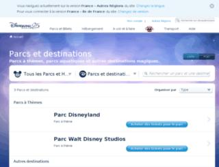 parcs.disneylandparis.fr screenshot
