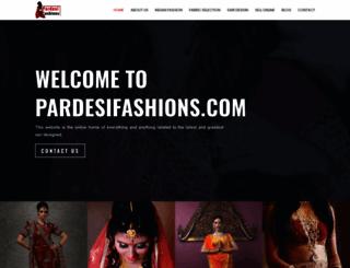 pardesifashions.com screenshot