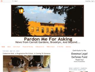pardonmeforasking.blogspot.com screenshot