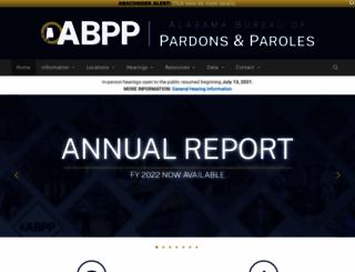 pardons.state.al.us screenshot