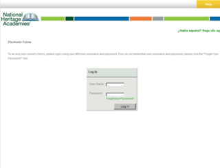 parentforms.heritageacademies.com screenshot