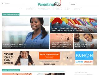 parentinghub.co.za screenshot