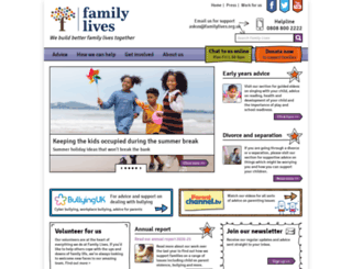 parentlineplus.org.uk screenshot