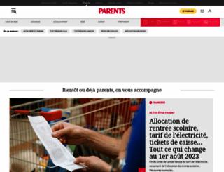 parents.fr screenshot