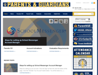 parents.kernhigh.org screenshot