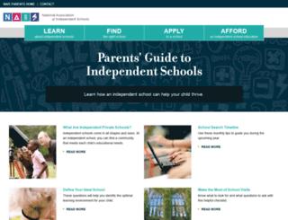 parents.nais.org screenshot