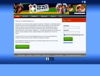 parentspeak.com screenshot