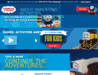 parentstation.thomasandfriends.com screenshot