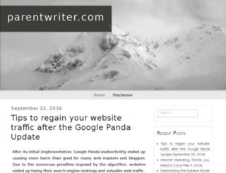 parentwriter.com screenshot