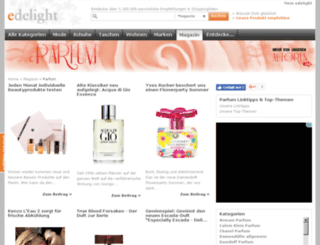 parfum.edelight.de screenshot