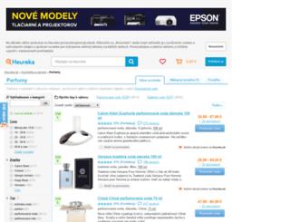 parfumy.heureka.sk screenshot