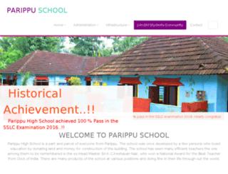 parippuhighschool.com screenshot
